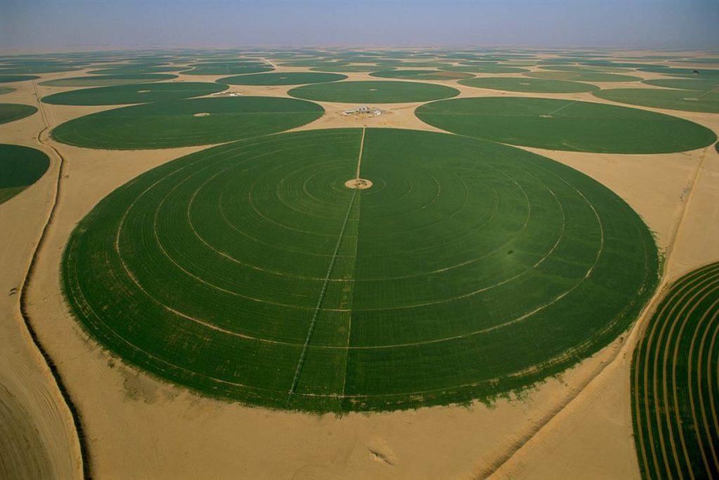 Cada círculo possui um quilômetro de extensão: água subterrânea da era do gelo
